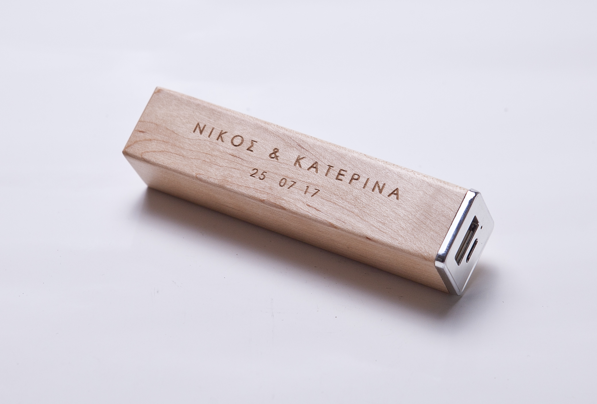 wooden powerbank 2600mAh
